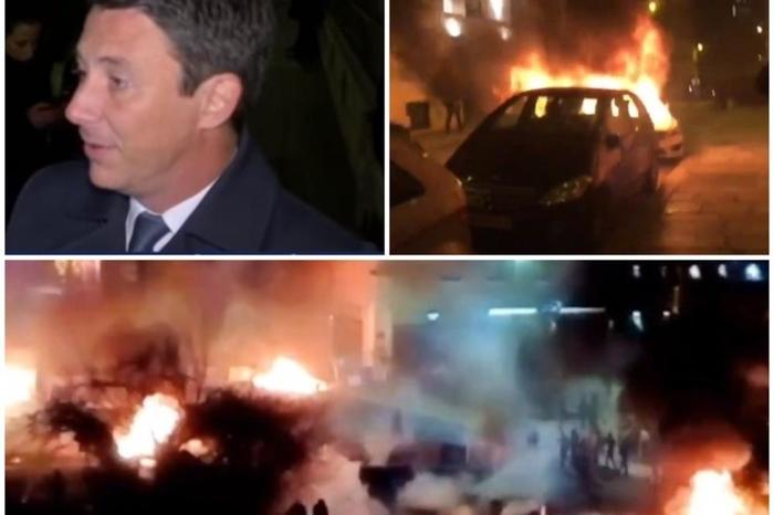 Хаосот во Франција се уште трае: Во Париз демонстрантите влегоа во владината зграда, сржавниот секретар евакуриан, а Кан гори