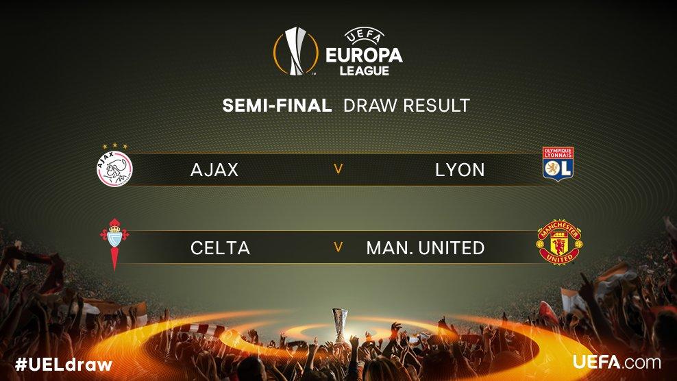ЛЕ   1 2 финале  Ајакс   Лион  Селта   Манчестер Ј