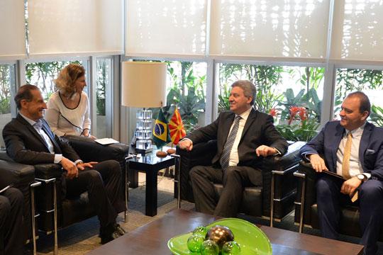 Иванов на средба со бразилскиот колега Мишел Темер