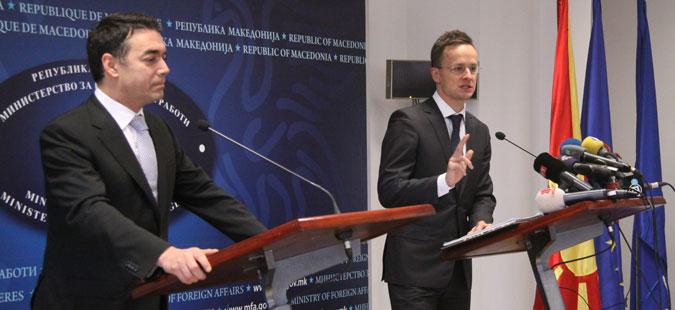 Сијарто  Остануваме најгласен поддржувач за интеграција на Македонија во ЕУ и НАТО