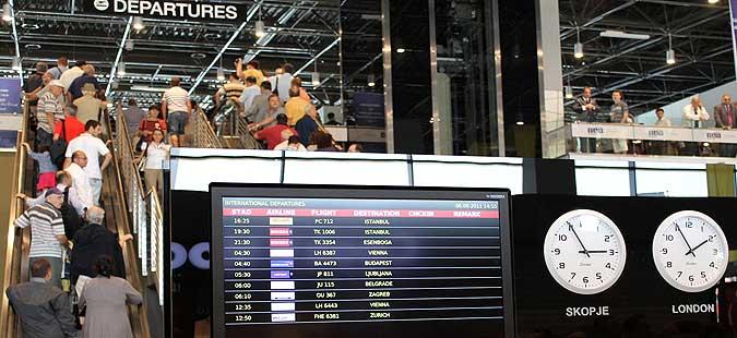 На македонските аеродроми лани минале 1 8 милиони патници