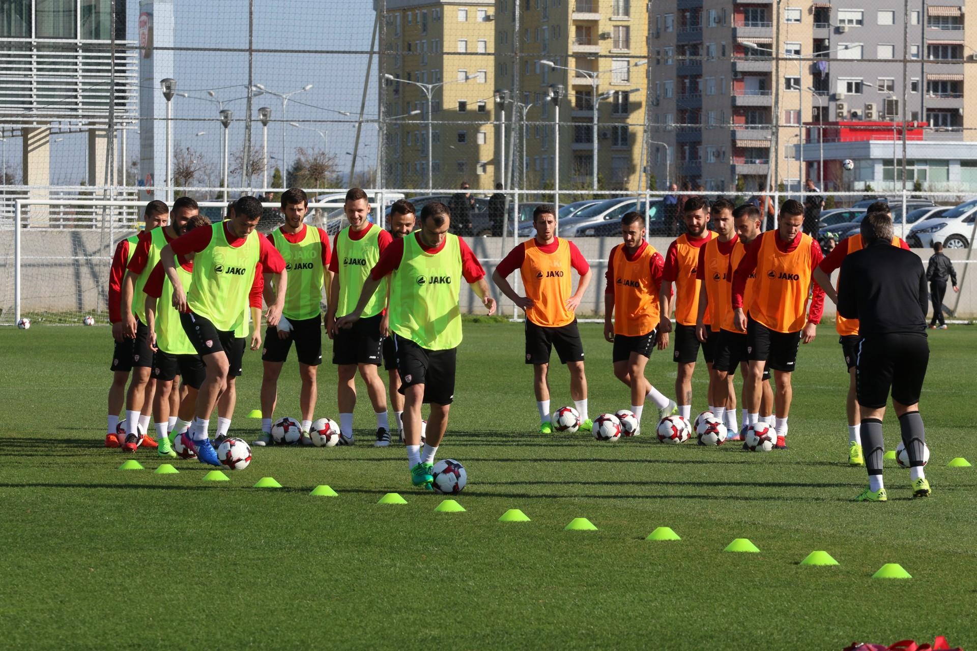 Македонските фудбалери ги започна подготовките за Лихтенштајн