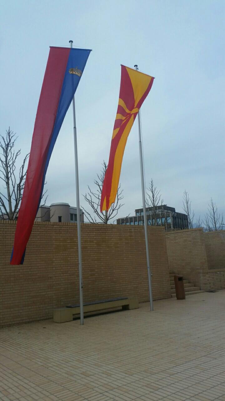 Македонското знаме развеано во Вадуц