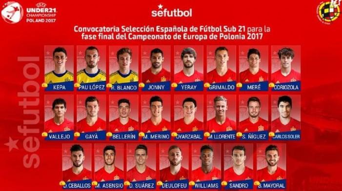 У 21  Саул Нигез ја предводи Шпанија на ЕП во Полска