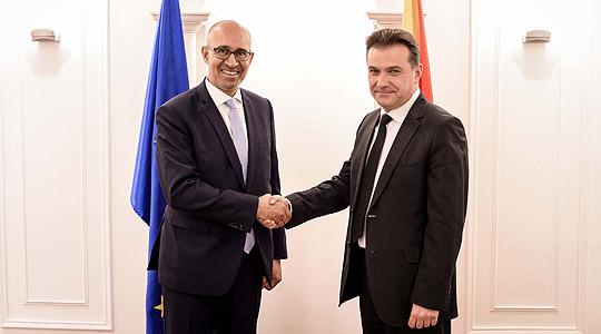Поповски се сретна со претставникот за слобода на медиумите на ОБСЕ Дезир