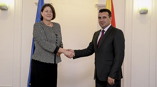 Средба Заев Булц   ЕК породолжува да ги поддржува транспортното поврзување и европските интеграции