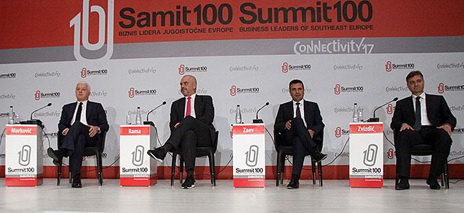 Самит 100  Преку зајакната економска соработка до повисок животен стандард на граѓаните во регионот