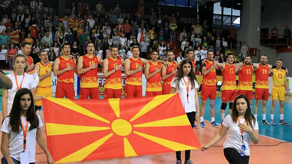 Распоред на натпреварите на одбојкарите на Македонија