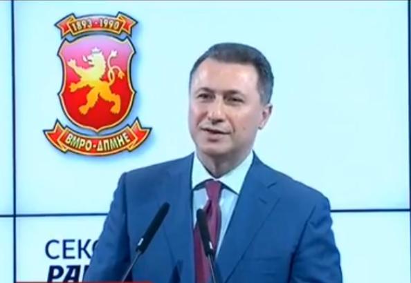 Груевски  Првиот круг помина во недемократска атмосфера со нерегуларности  изборите не се завршени