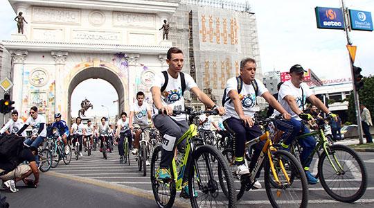 Велосипедско дефиле од Порта Македонија до Градски парк