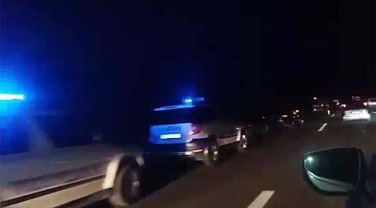 Страотна сообраќајка кај Гиновци вечерва  сообраќајот во прекин