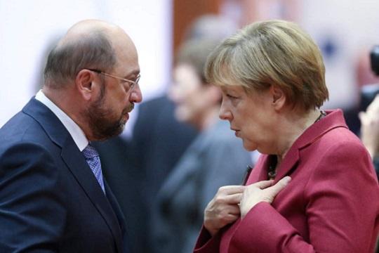 Финална рунда преговори меѓу Меркел и Шулц