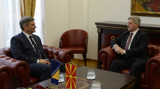 Иванов се сретна со претседавачот на Советот на министри на БИХ  Звиздиќ