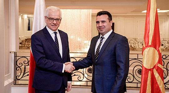 Заев   Чапутович  Поддршка од Полска на евро атланските интеграции на Македонија