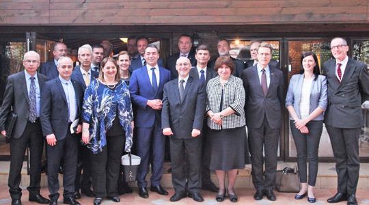Димитров на работен ручек со амбасадорите на земјите членки на ЕУ