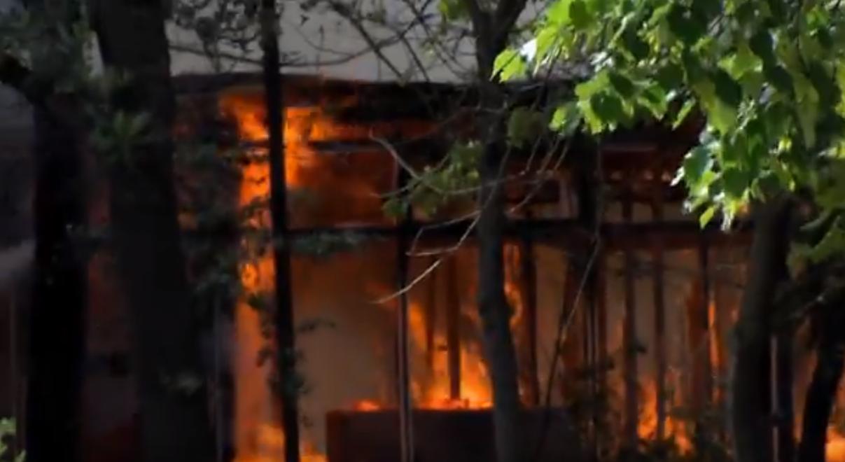 Голем пожар на Партизанска во Скопје  Нема повредени