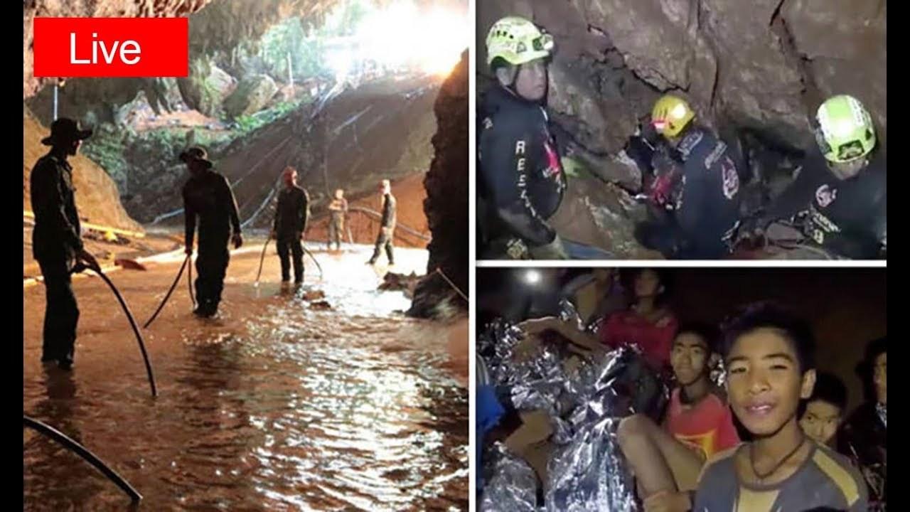 Резултат со слика за 11 деца досега се извлечени од пештерата во Тајланд