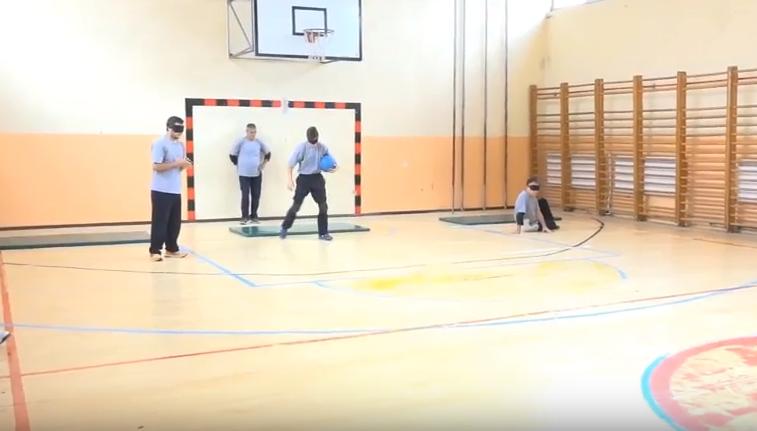 Натпревар во Гол Бол игра наменета за лицата со оштетен вид